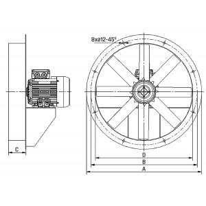 Осевые вентиляторы в корпусе AFD